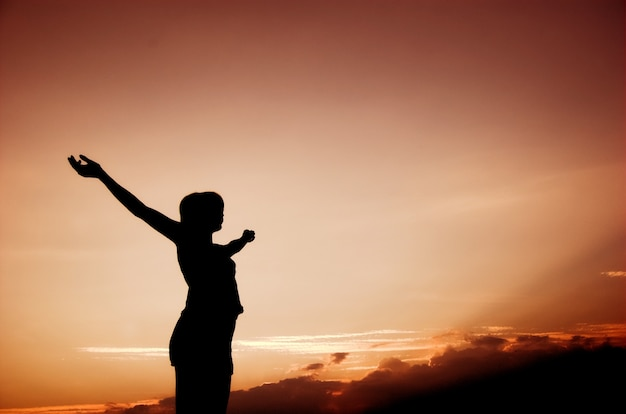 Inspirerend vrouw silhouet Gratis Foto