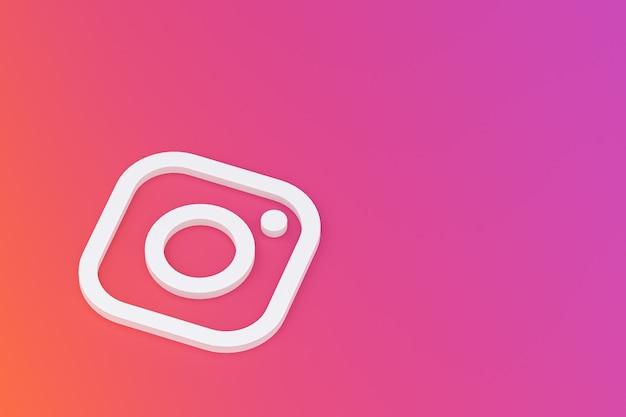 Instagram minimaal logo close-up Premium Foto