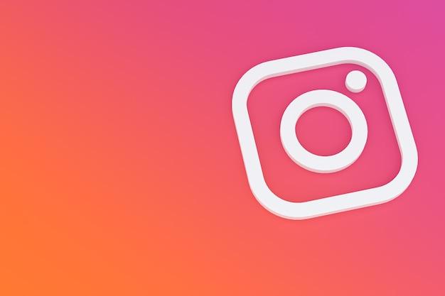 Instagram minimale logo 3d-rendering Premium Foto