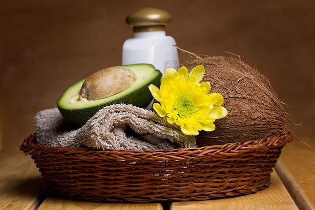 Instellen voor massage of lichaamsverzorging Premium Foto