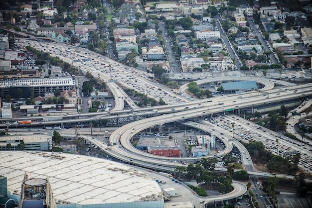 Interchange, loops en snelwegen Premium Foto