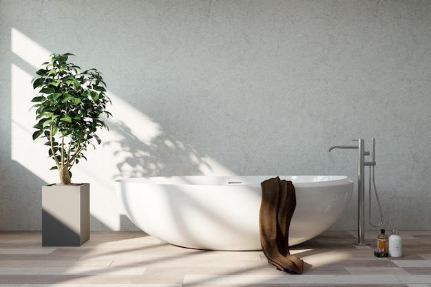 Interieur van de badkamer. zonnige dag. Premium Foto