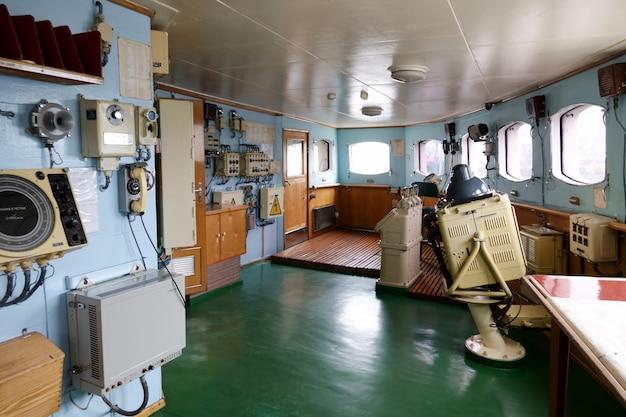 Interieur van de sovjet-atomaire ijsbreker lenin. Premium Foto