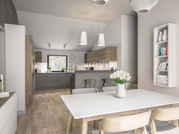 Interieur van moderne keuken Premium Foto