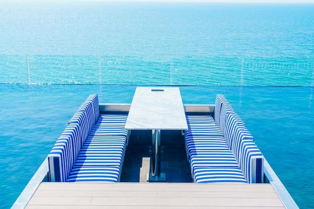 interieur zomer houten strand tafel gratis foto
