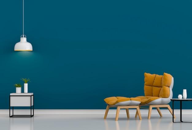 Interieurontwerp voor woonkamer of receptie met fauteuil Premium Foto