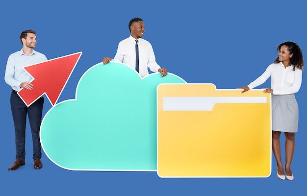 Internet en cloud technologie concept shoot Premium Foto