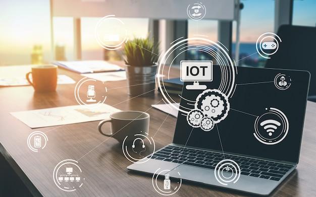 Internet of things en communicatietechnologie Premium Foto