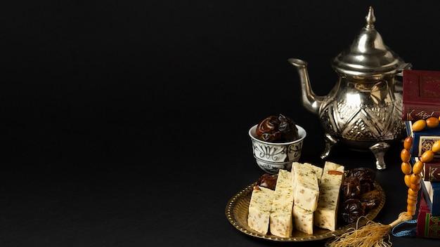 Islamitisch nieuwjaarconcept met exemplaarruimte Gratis Foto