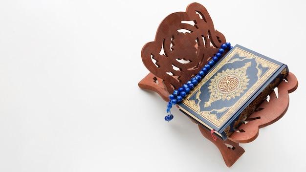 Islamitisch nieuwjaarconcept met exemplaarruimte Premium Foto