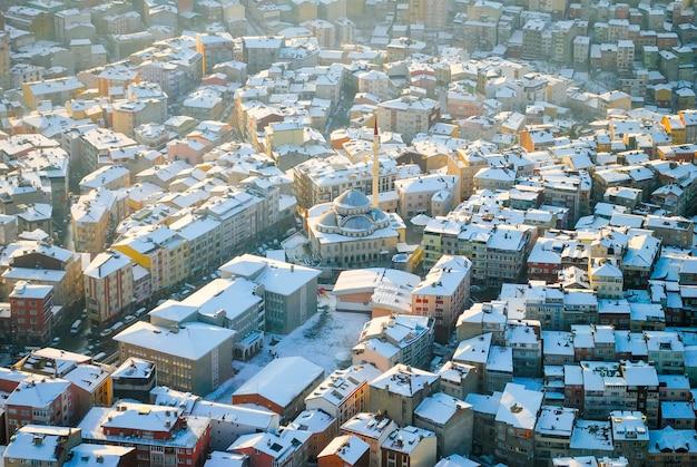 Istanbul vanaf de top. Premium Foto