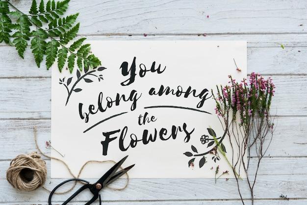 Je hoort bij de bloemen Gratis Foto