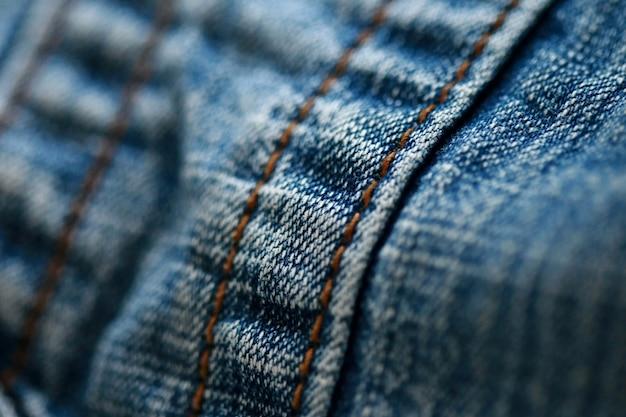 Jeans denim textuur close-up Premium Foto