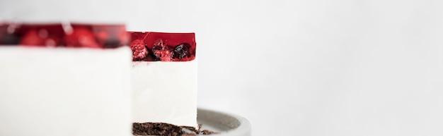 Jelly cake frame met kopie-ruimte Gratis Foto