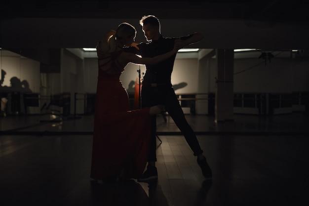 Jong mooi paar dat met hartstocht danst Gratis Foto