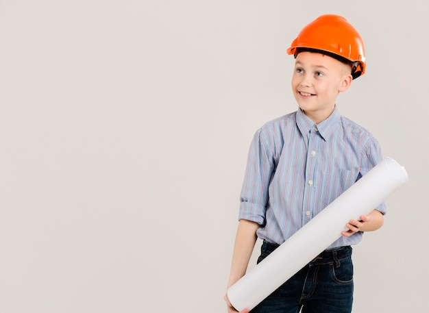 Jonge bouwvakker kopie ruimte Gratis Foto