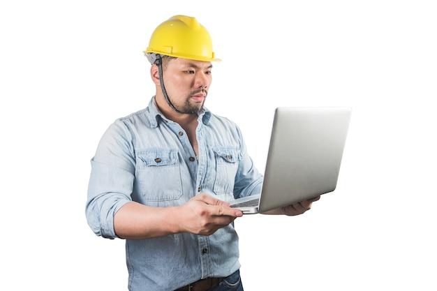 Jonge bouwvakkers in bouwvakkers Premium Foto