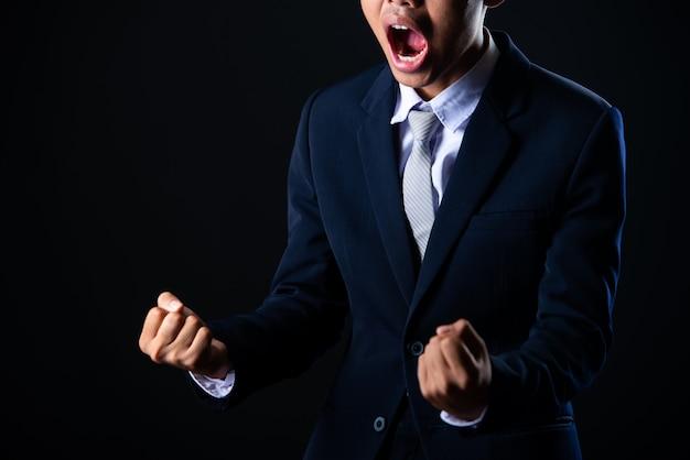 Jonge knappe zakenman grijs Gratis Foto