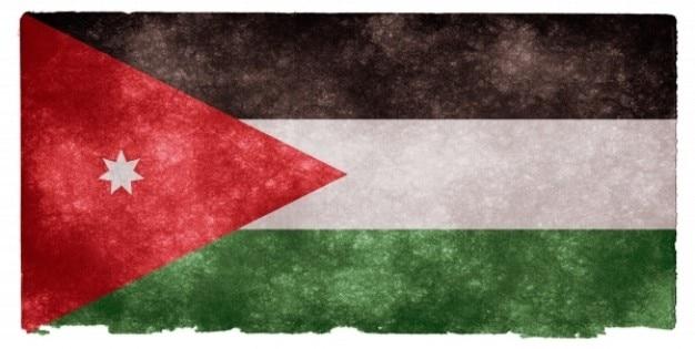 Jordan grunge vlag Gratis Foto