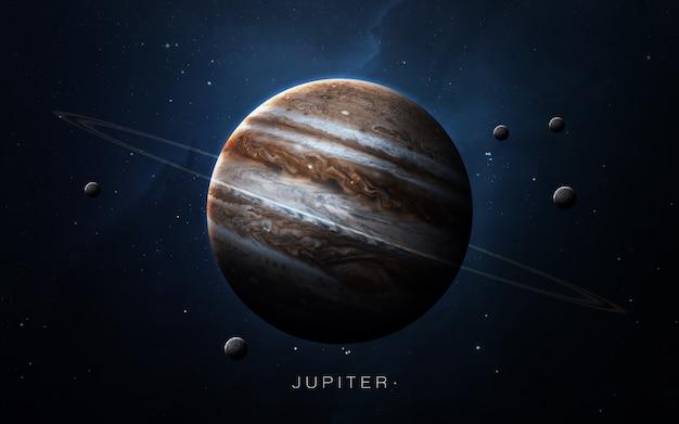 Jupiter in de ruimte, 3d illustratie. . Premium Foto