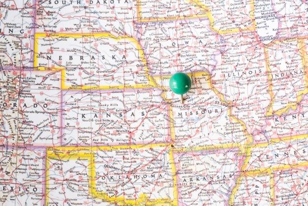 Kaart van de verenigde staten van amerika en lokaliseren Gratis Foto