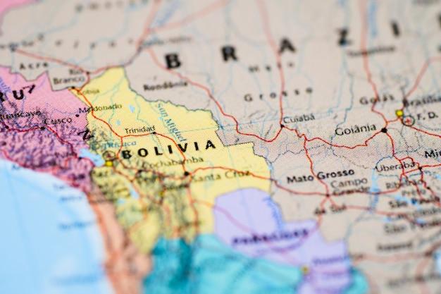 Kaart van zuid-amerika. Premium Foto