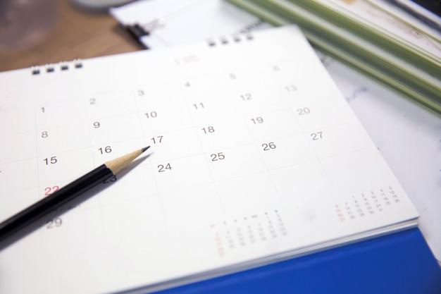 Kalender event planner is bezig Premium Foto