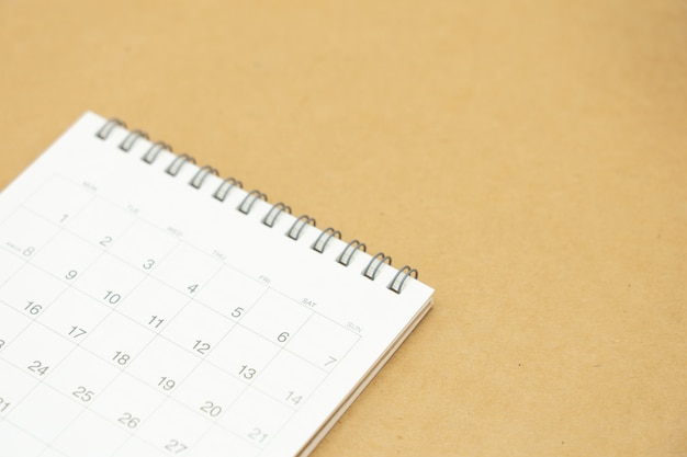 Kalender voor bedrijfsplanning Premium Foto