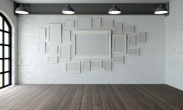 Kamer met moderne schilderijen Gratis Foto
