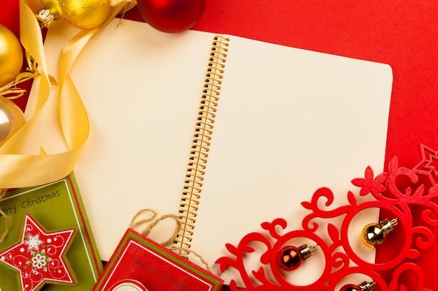 Kerst achtergrond, bovenaanzicht Premium Foto