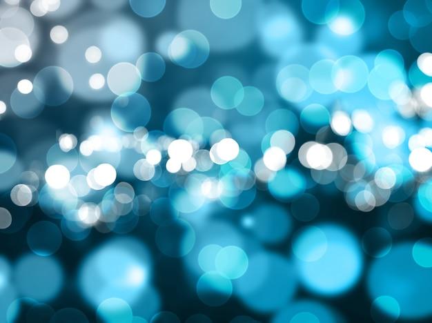 Kerst achtergrond van wazig bokeh lichten Gratis Foto