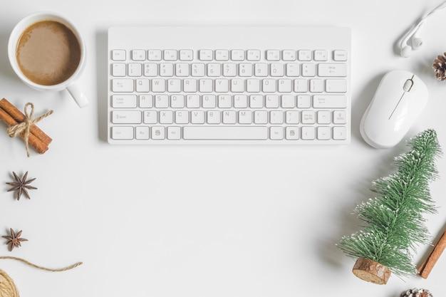 Kerst desktop bureau tafel Premium Foto