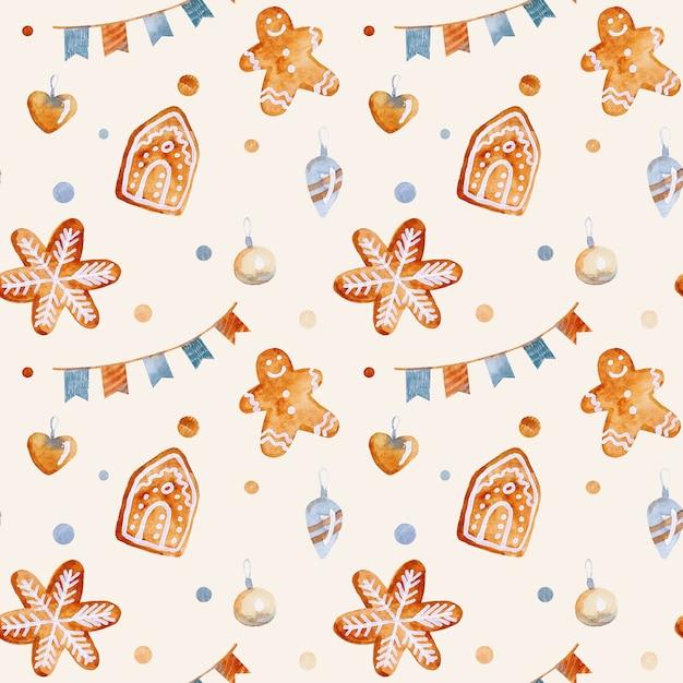 Kerst feestelijk naadloos patroon voor stoffen inpakpapier Premium Foto