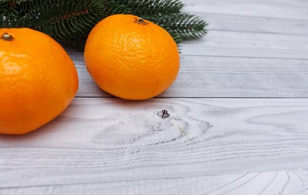 Kerst mandarijnen. Premium Foto