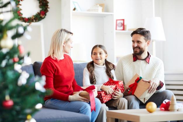 Kerst met ouders Gratis Foto