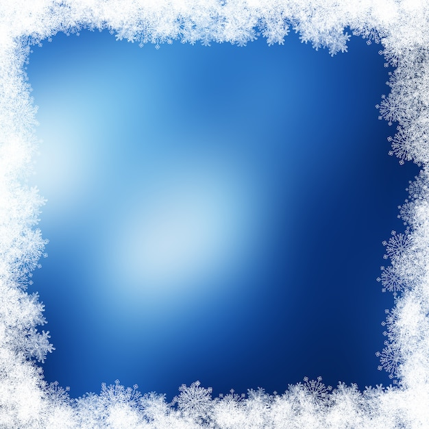Kerst sneeuwvlok rand Premium Foto