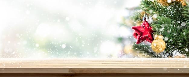 Kerst tafelblad achtergrond Premium Foto