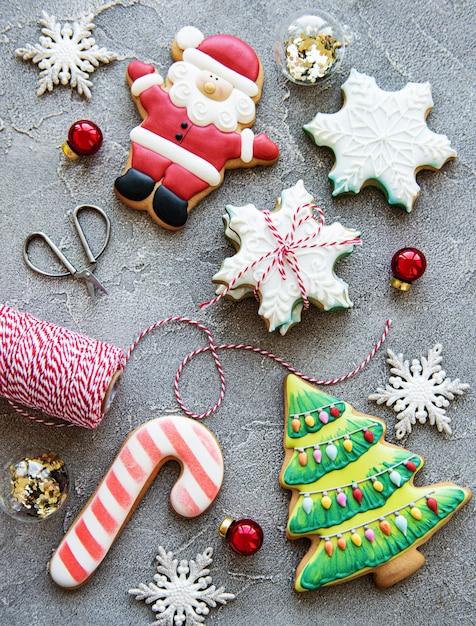 Kerst vakantie peperkoek koekjes Premium Foto