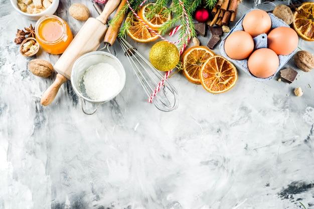 Kerst winter bakken concept Premium Foto
