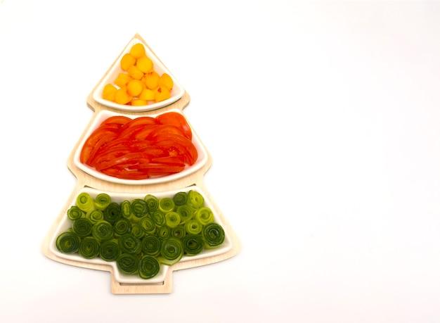 Kerstboom plantaardig voedsel Premium Foto