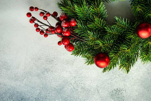 Kerstdecoratie achtergrond Premium Foto