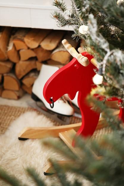 Kerstdecoratie thuis Gratis Foto