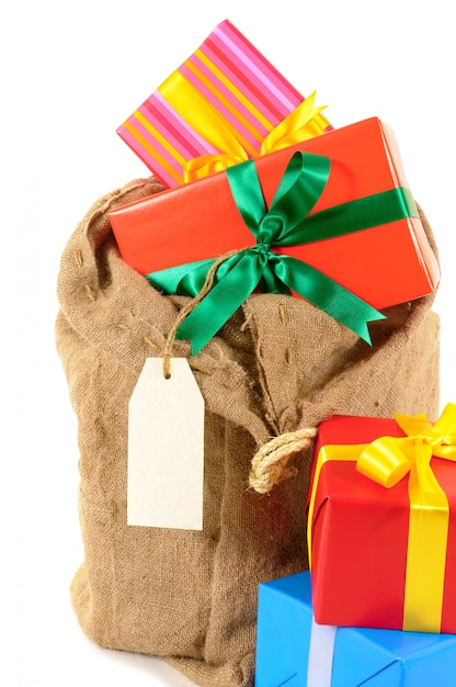 Kerstman Cadeau Zak Met Cadeautjes Foto Gratis Download