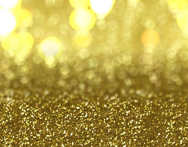 Kerstmis goud glitter achtergrondontwerp Gratis Foto