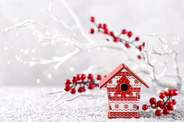 Kerstmis of nieuwjaar achtergrond Premium Foto