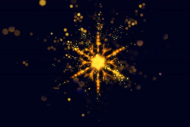 Kerstmisachtergrond met het ontwerp van de fonkelingssneeuwvlok Gratis Foto
