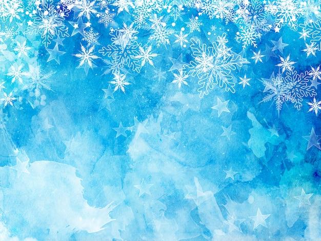 Kerstmissneeuwvlokken en sterren Gratis Foto