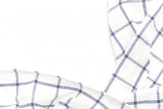 Keukendoek (servet) op witte achtergrond Premium Foto
