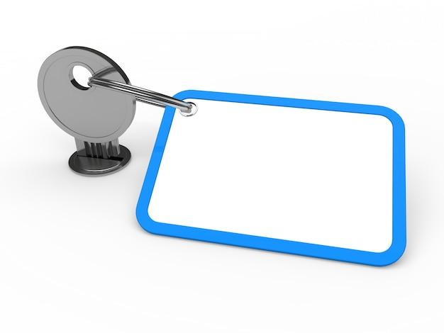 Key met sleutelhanger om tekst te schrijven Gratis Foto