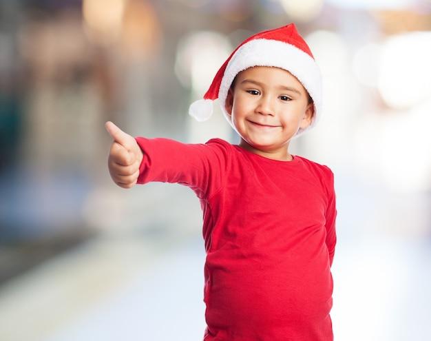 Kid met ht santa Gratis Foto